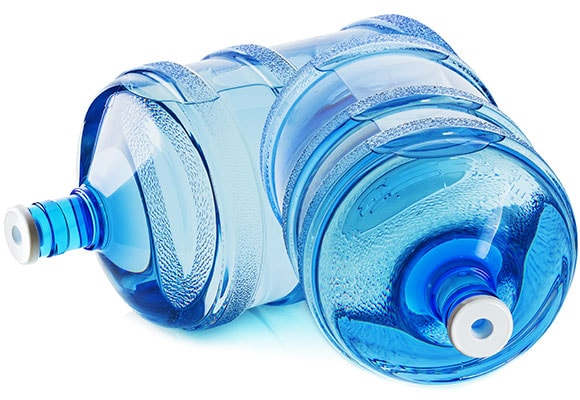 Large blue U-Fill water bottles